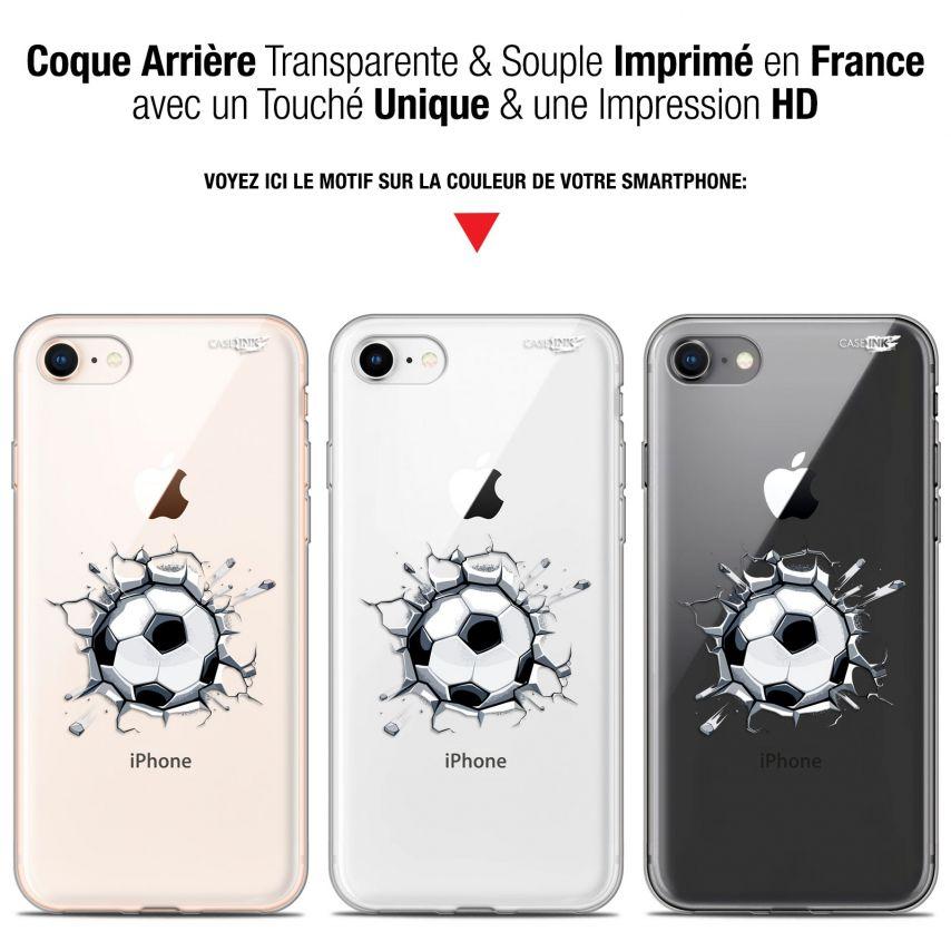 "Coque Gel Apple iPhone 7/8 (4.7"") Extra Fine Motif - Le Balon de Foot"