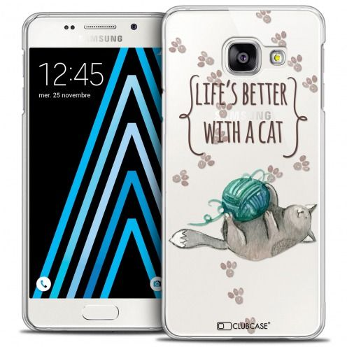 Coque Crystal Galaxy A3 2016 (A310) Extra Fine Quote - Life's Better With a Cat