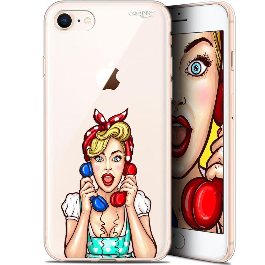 "Coque Gel Apple iPhone 7/8 (4.7"") Extra Fine Motif - Calling Girl"