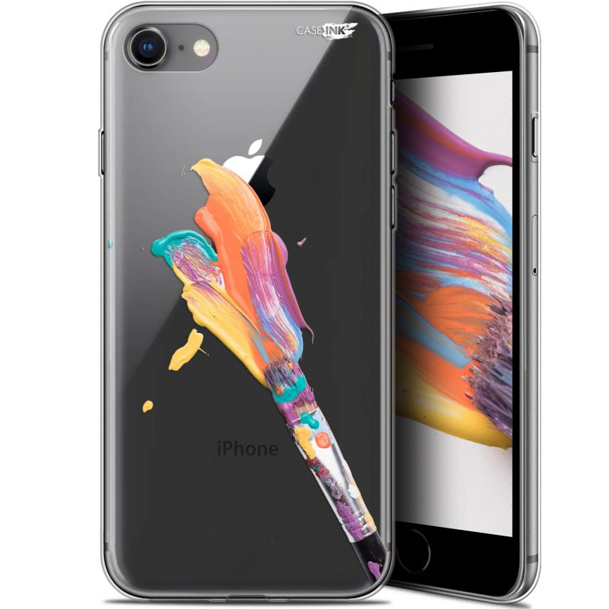 "Coque Gel Apple iPhone 7/8 (4.7"") Extra Fine Motif - Pinceau de Peinture"