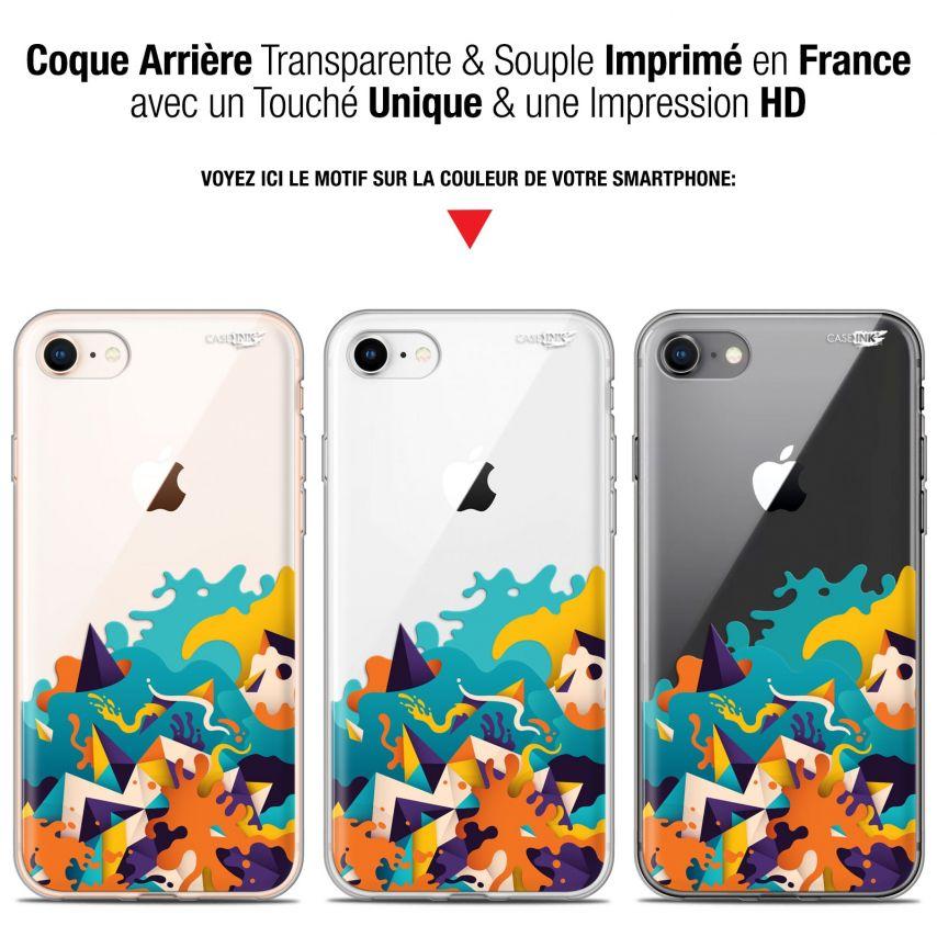 "Coque Gel Apple iPhone 7/8 (4.7"") Extra Fine Motif - Les Vagues"
