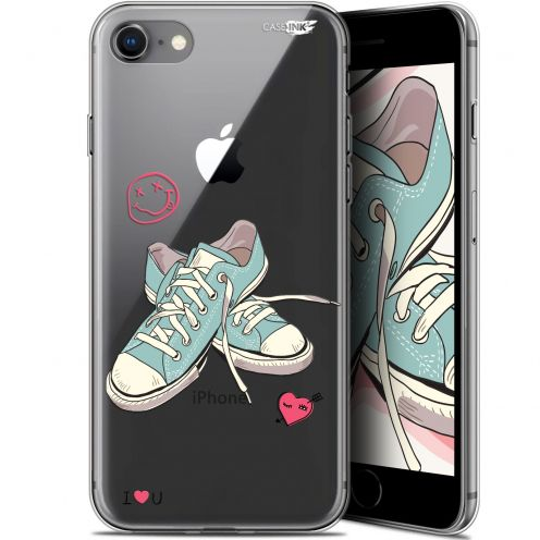 "Coque Gel Apple iPhone 7/8 (4.7"") Extra Fine Motif - Mes Sneakers d'Amour"