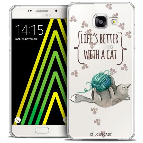 Coque Crystal Galaxy A5 2016 (A510) Extra Fine Quote - Life's Better With a Cat
