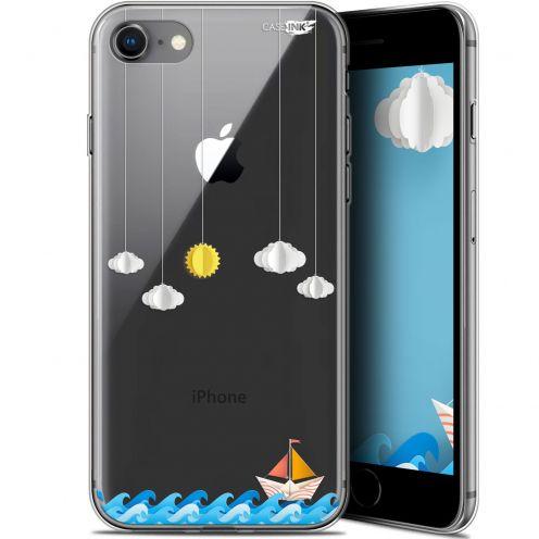"Coque Gel Apple iPhone 7/8 (4.7"") Extra Fine Motif - Petit Bateau en Mer"