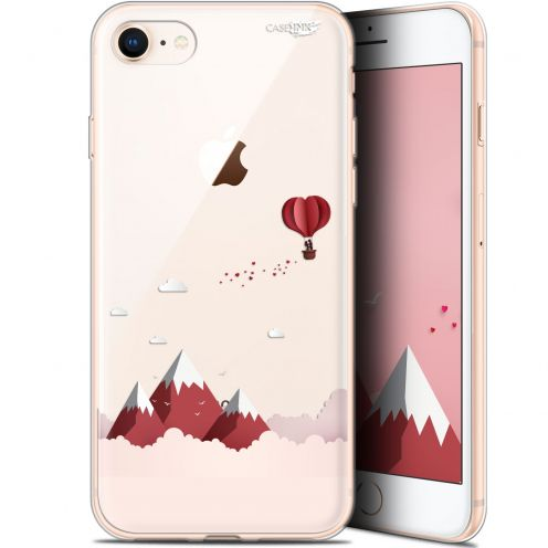 "Coque Gel Apple iPhone 7/8 (4.7"") Extra Fine Motif -  Montagne En Montgolfière"