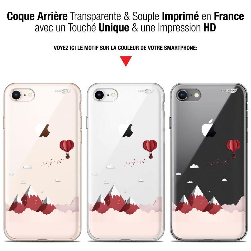 """Coque Gel Apple iPhone 7/8 (4.7"""") Extra Fine Motif - Montagne En Montgolfière"""