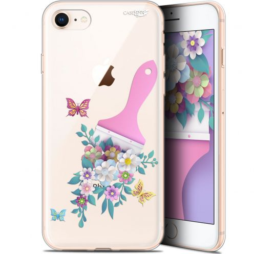 "Coque Gel Apple iPhone 7/8 (4.7"") Extra Fine Motif - Pinceau à Fleurs"
