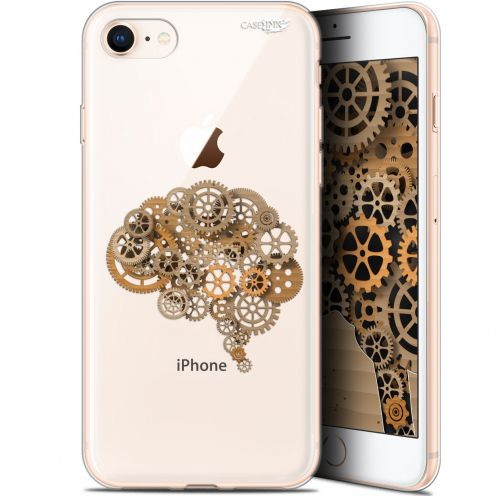 "Coque Gel Apple iPhone 7/8 (4.7"") Extra Fine Motif -  Mécanismes du Cerveau"