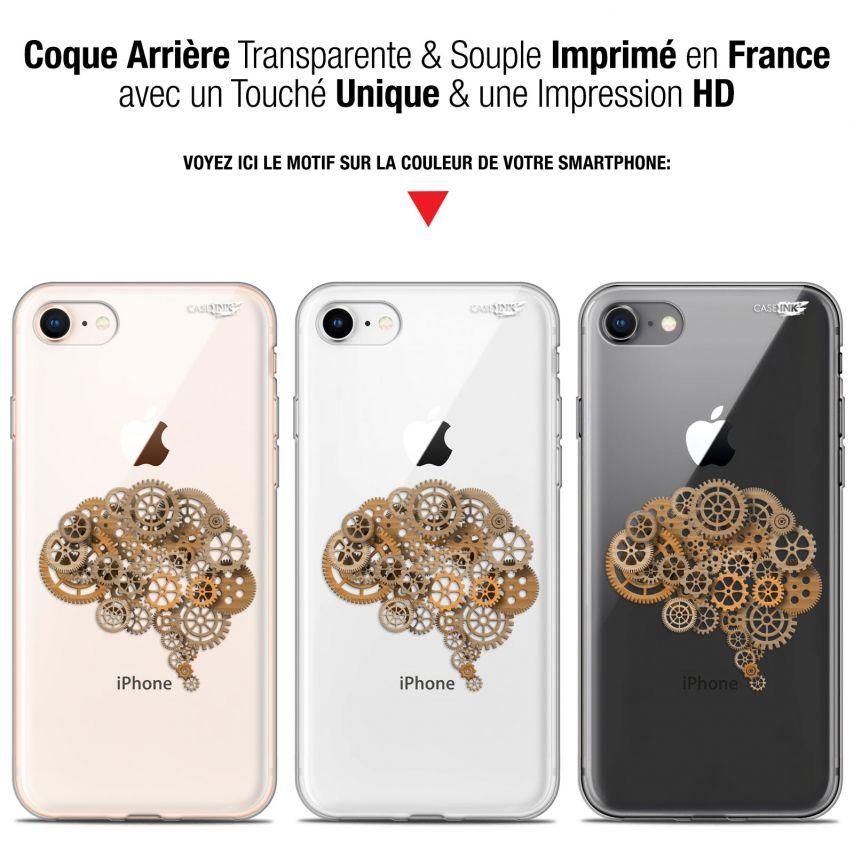 "Coque Gel Apple iPhone 7/8 (4.7"") Extra Fine Motif - Mécanismes du Cerveau"