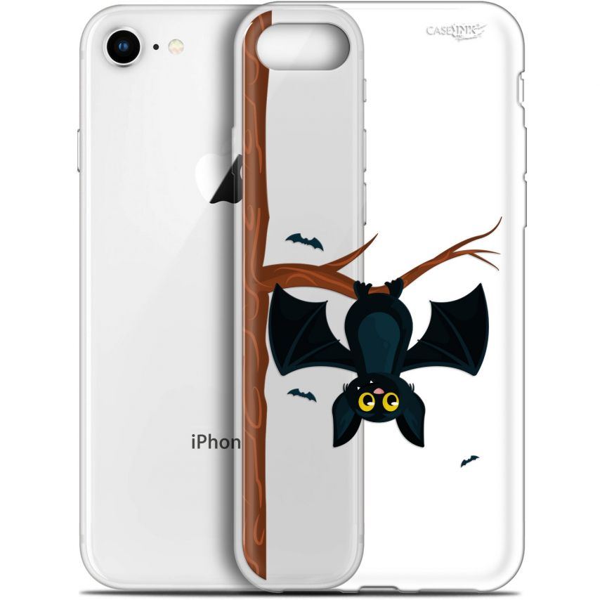 "Coque Gel Apple iPhone 7/8 (4.7"") Extra Fine Motif - Petite Chauve Souris"