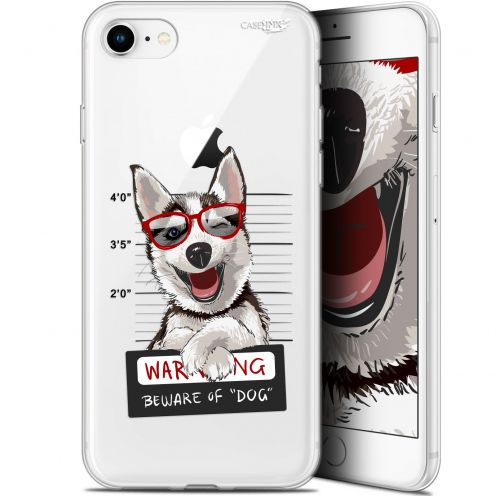 "Coque Gel Apple iPhone 7/8 (4.7"") Extra Fine Motif - Beware The Husky Dog"