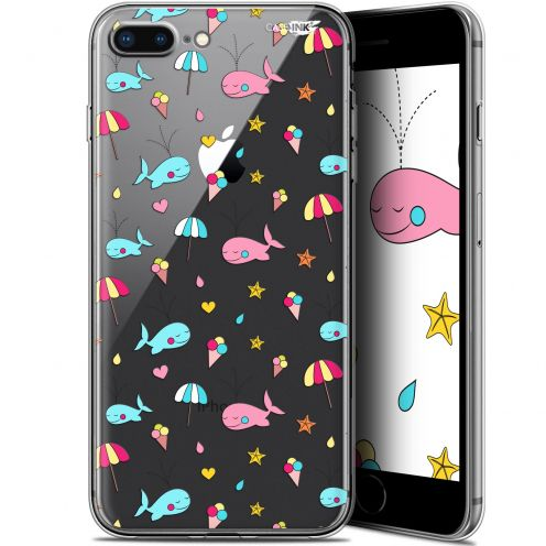 """Coque Gel Apple iPhone 7/8 Plus (4.7"""") Extra Fine Motif - Baleine à la Plage"""