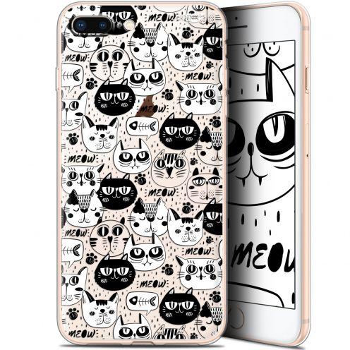 """Coque Gel Apple iPhone 7/8 Plus (4.7"""") Extra Fine Motif - Chat Noir Chat Blanc"""