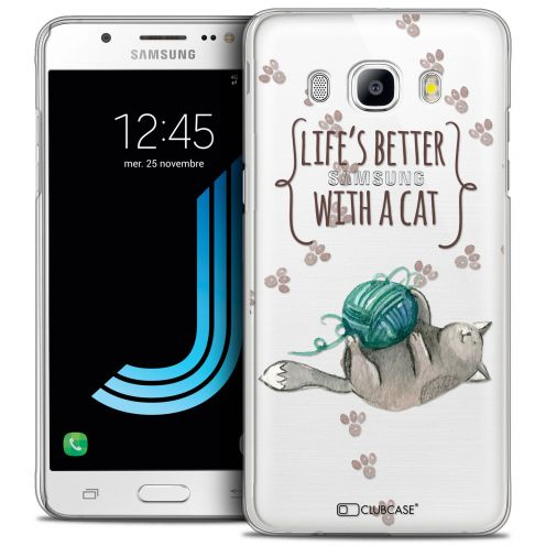 Coque Crystal Galaxy J5 2016 (J510) Extra Fine Quote - Life's Better With a Cat