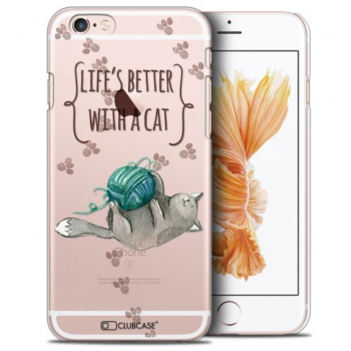 Coque Crystal iPhone 6/6s (4.7) Extra Fine Quote - Life's Better With a Cat