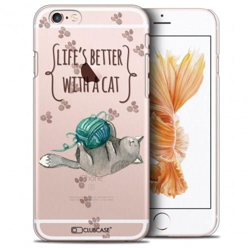 Coque Crystal iPhone 6/6s Plus (5.5) Extra Fine Quote - Life's Better With a Cat