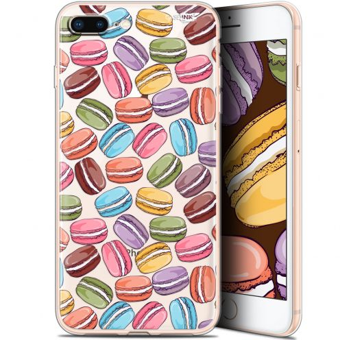 "Coque Gel Apple iPhone 7/8 Plus (4.7"") Extra Fine Motif -  Macarons"