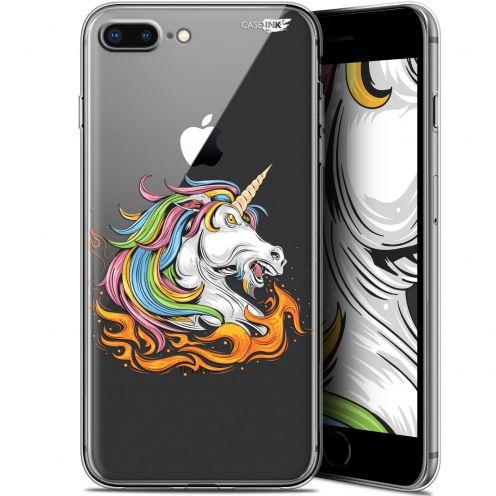 """Coque Gel Apple iPhone 7/8 Plus (4.7"""") Extra Fine Motif -  Licorne de Feu"""