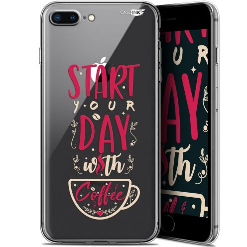 """Coque Gel Apple iPhone 7/8 Plus (4.7"""") Extra Fine Motif -  Start With Coffee"""