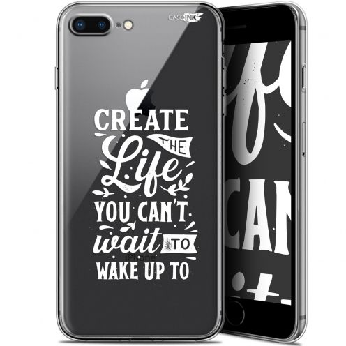 """Coque Gel Apple iPhone 7/8 Plus (4.7"""") Extra Fine Motif -  Wake Up Your Life"""