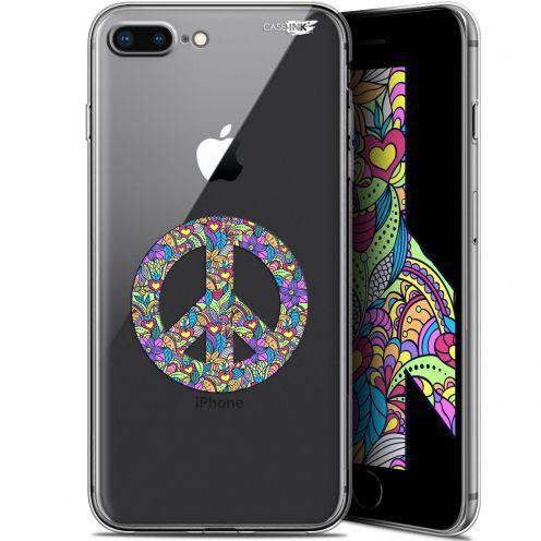 "Coque Gel Apple iPhone 7/8 Plus (4.7"") Extra Fine Motif -  Peace And Love"