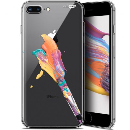 "Coque Gel Apple iPhone 7/8 Plus (4.7"") Extra Fine Motif -  Pinceau de Peinture"