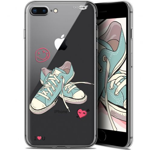 """Coque Gel Apple iPhone 7/8 Plus (4.7"""") Extra Fine Motif -  Mes Sneakers d'Amour"""