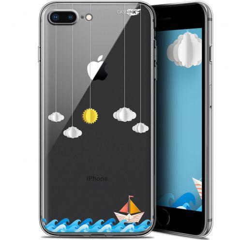 "Coque Gel Apple iPhone 7/8 Plus (4.7"") Extra Fine Motif - Petit Bateau en Mer"