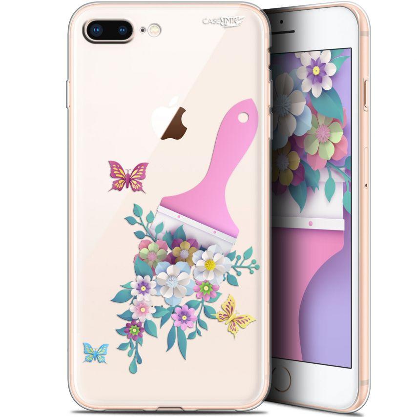 """Coque Gel Apple iPhone 7/8 Plus (4.7"""") Extra Fine Motif -  Pinceau à Fleurs"""