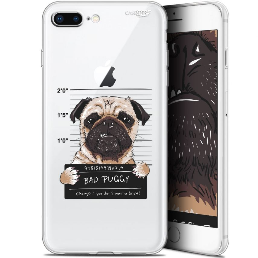 "Coque Gel Apple iPhone 7/8 Plus (4.7"") Extra Fine Motif -  Beware The Puggy Dog"