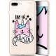 "Coque Gel Apple iPhone 7/8 Plus (4.7"") Extra Fine Motif -  I Am MEOUgical"