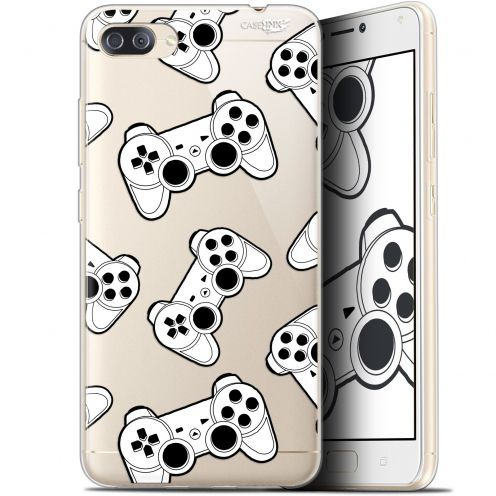 "Coque Gel Asus Zenfone 4 MAX PLUS / Pro ZC554KL (5.5"") Extra Fine Motif - Game Play Joysticks"