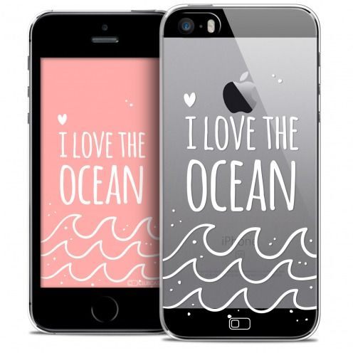 Coque Crystal iPhone SE/5/5s Extra Fine Summer - I Love Ocean