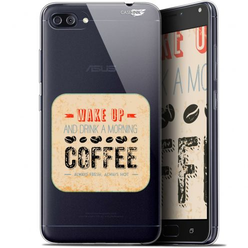 "Coque Gel Asus Zenfone 4 MAX PLUS / Pro ZC554KL (5.5"") Extra Fine Motif - Wake Up With Coffee"