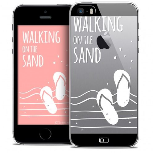 Coque Crystal iPhone SE/5/5s Extra Fine Summer - Walking on the Sand