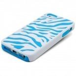 Visuel unique de Coque iPhone 5 ZEBRA Bi Matière Bleue