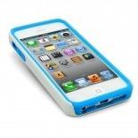 Visuel supplémentaire de Coque iPhone 5 ZEBRA Bi Matière Bleue