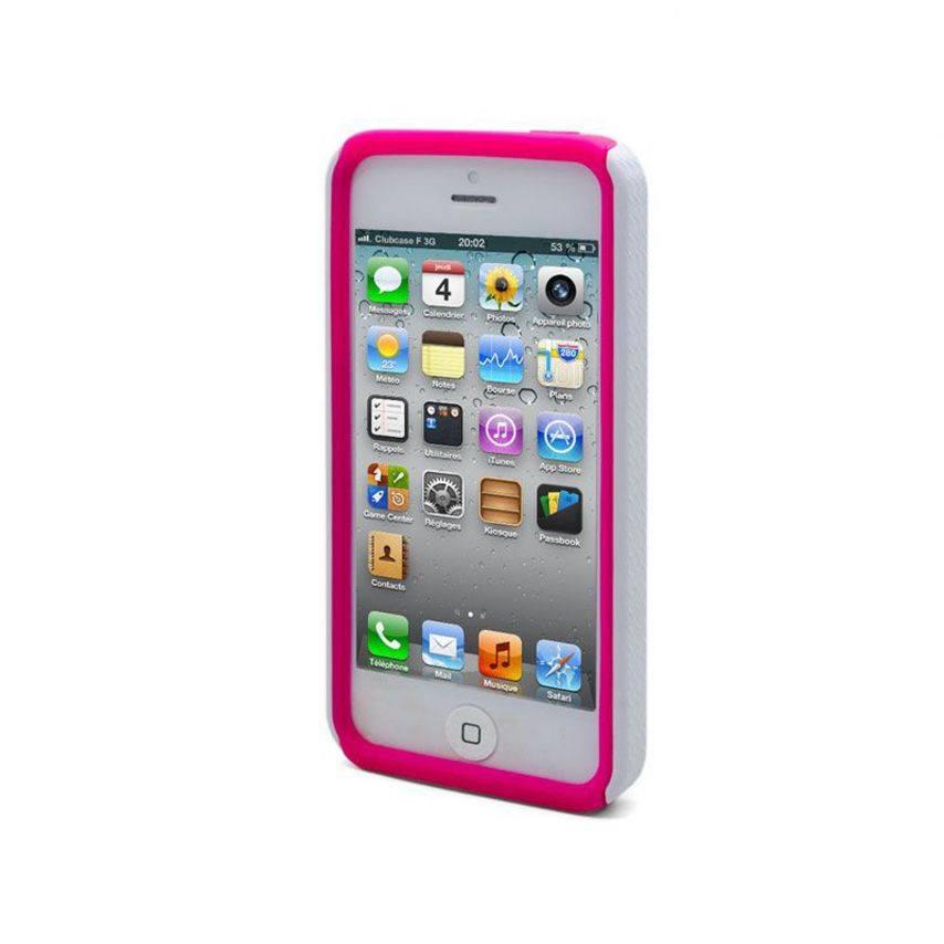 Visuel unique de Coque iPhone 5 ZEBRA Bi Matière Rose