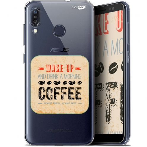 "Coque Gel Asus Zenfone Max (M1) ZB555KL (5.5"") Extra Fine Motif -  Wake Up With Coffee"