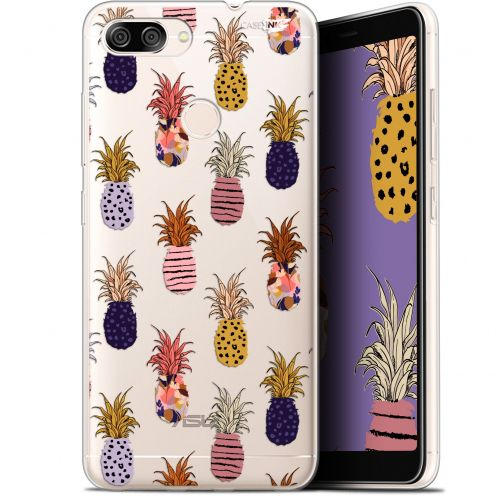 "Coque Gel Asus Zenfone Max Plus (M1) ZB570TL (5.7"") Extra Fine Motif -  Ananas Gold"
