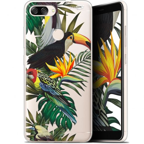 "Coque Gel Asus Zenfone Max Plus (M1) ZB570TL (5.7"") Extra Fine Motif -  Toucan Tropical"