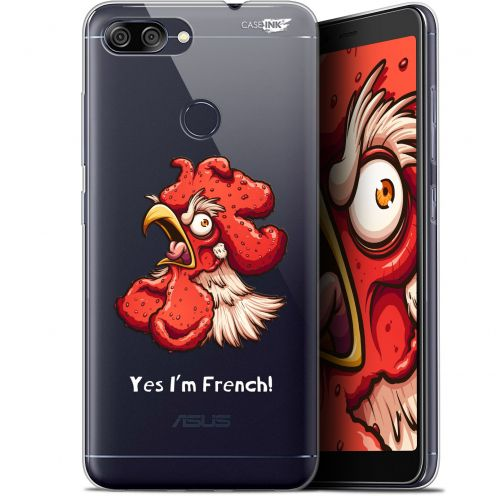 "Coque Gel Asus Zenfone Max Plus (M1) ZB570TL (5.7"") Extra Fine Motif -  I'm French Coq"