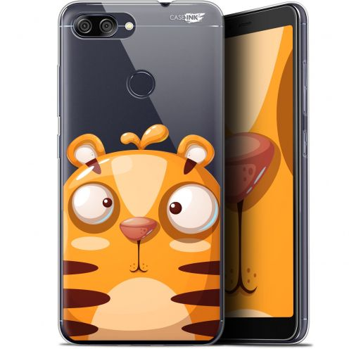 "Coque Gel Asus Zenfone Max Plus (M1) ZB570TL (5.7"") Extra Fine Motif -  Cartoon Tiger"