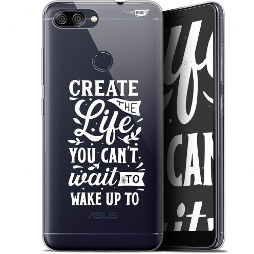 "Coque Gel Asus Zenfone Max Plus (M1) ZB570TL (5.7"") Extra Fine Motif -  Wake Up Your Life"