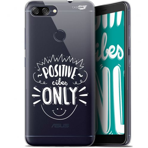 "Coque Gel Asus Zenfone Max Plus (M1) ZB570TL (5.7"") Extra Fine Motif -  Positive Vibes Only"