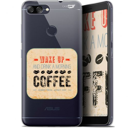 "Coque Gel Asus Zenfone Max Plus (M1) ZB570TL (5.7"") Extra Fine Motif -  Wake Up With Coffee"