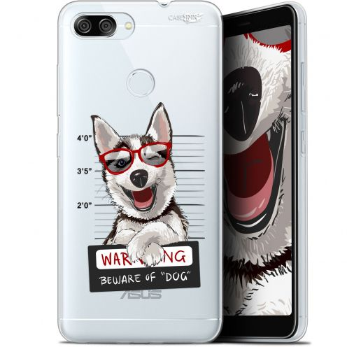 "Coque Gel Asus Zenfone Max Plus (M1) ZB570TL (5.7"") Extra Fine Motif -  Beware The Husky Dog"