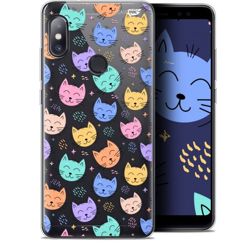 "Coque Gel Xiaomi Redmi Note 5 (5.99"") Extra Fine Motif - Chat Dormant"