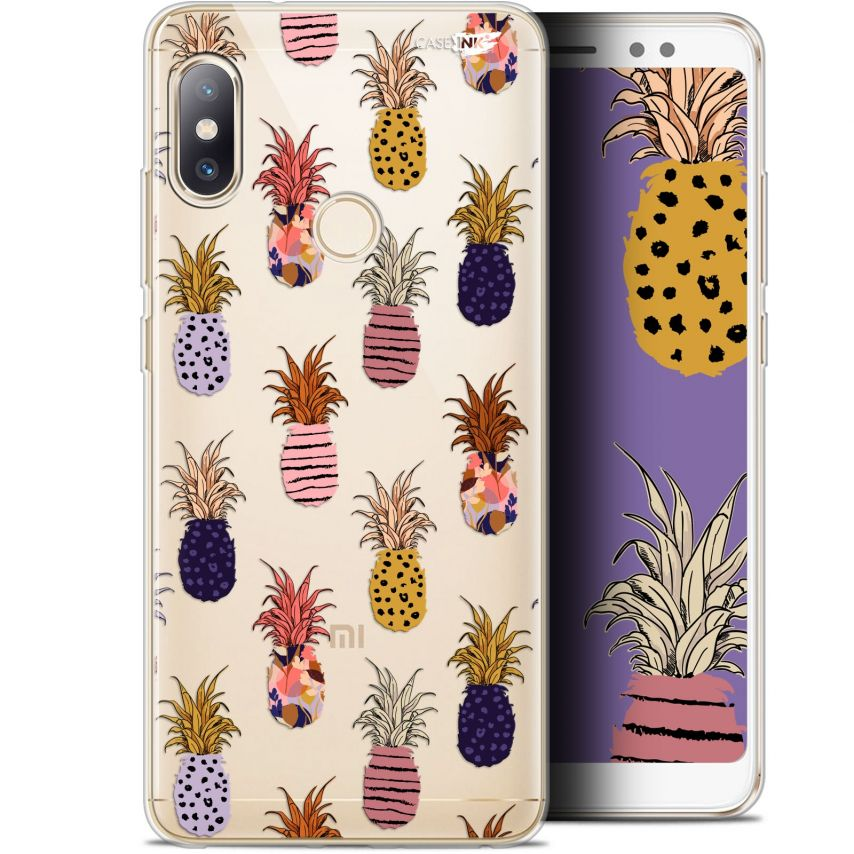 "Coque Gel Xiaomi Redmi Note 5 (5.99"") Extra Fine Motif - Ananas Gold"