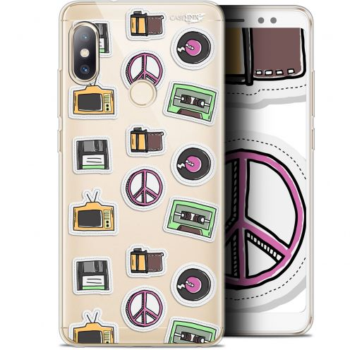 "Coque Gel Xiaomi Redmi Note 5 (5.99"") Extra Fine Motif - Vintage Stickers"